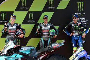 Fabio Quartararo, Petronas Yamaha SRT, Valentino Rossi, Yamaha Factory Racing, Franco Morbidelli, Petronas Yamaha SRT