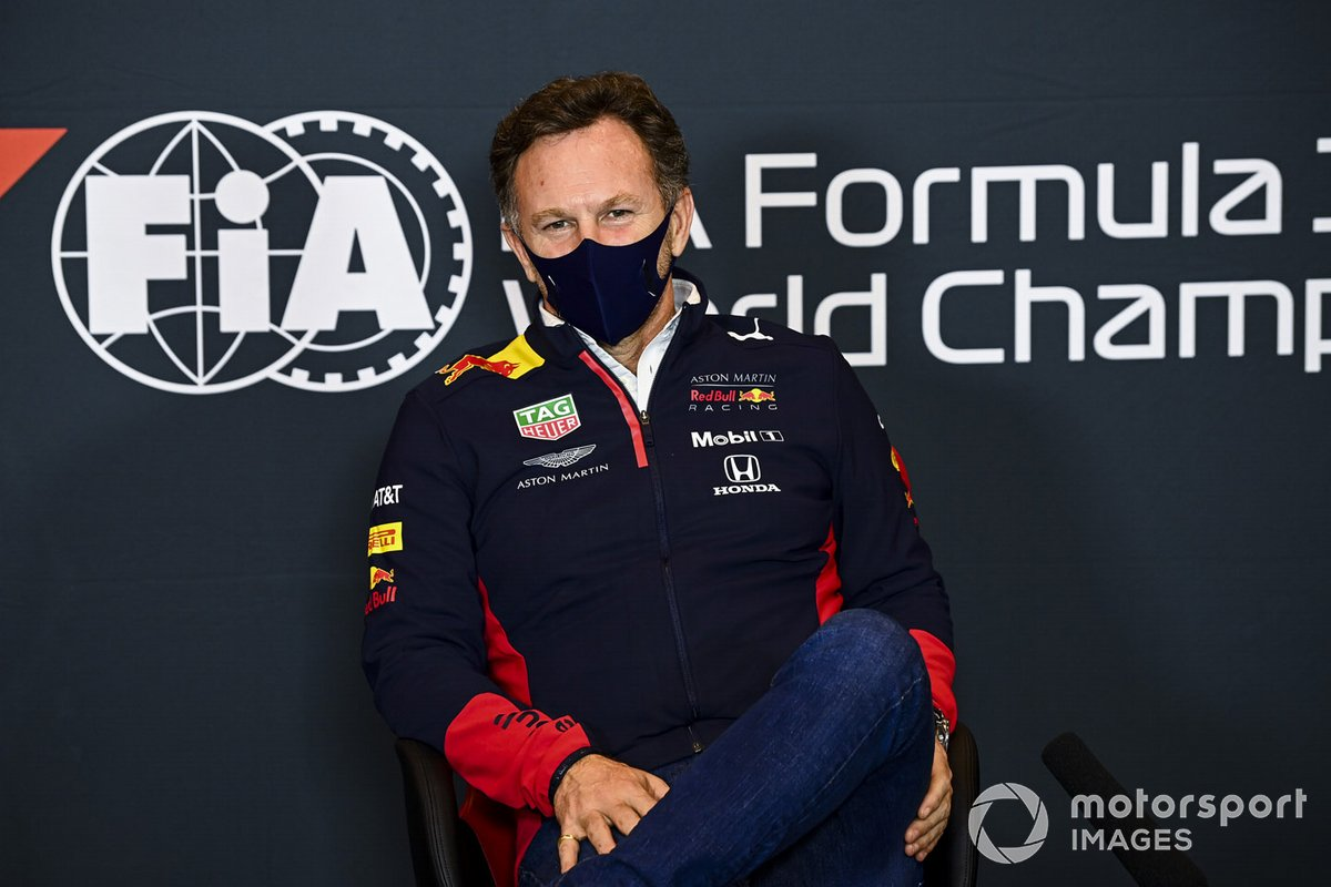Christian Horner, director del equipo, Red Bull Racing, en la conferencia de prensa
