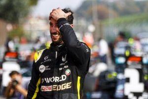 Daniel Ricciardo, Renault F1 celebrates in Parc Ferme