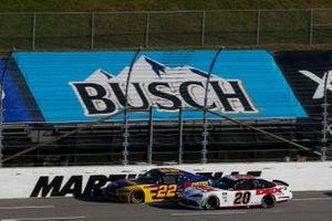 Harrison Burton, Joe Gibbs Racing, Toyota Supra DEX Imaging Austin Cindric, Team Penske, Ford Mustang Pirtek