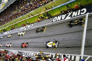 Partenza del GP di San Marino 1985 a Imola
