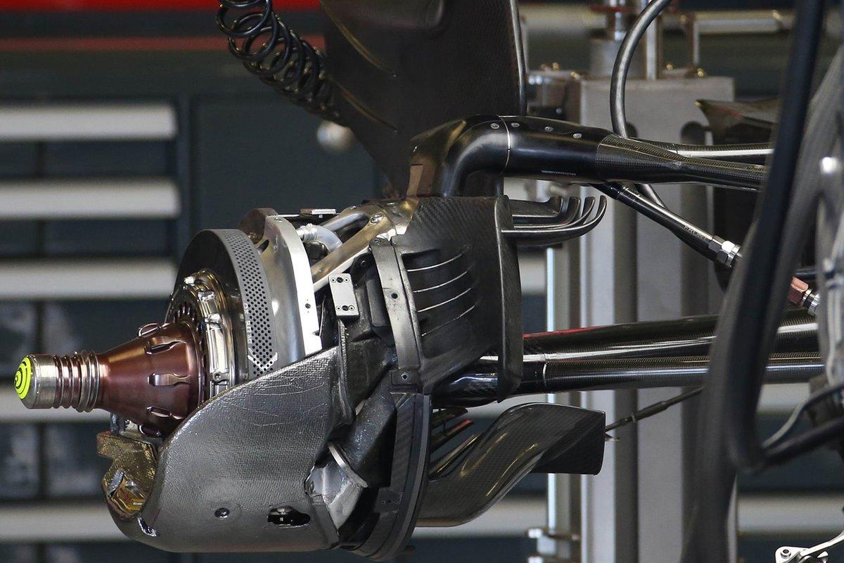Haas VF-20 brake detail