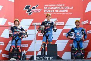 Marco Bezzecchi, Sky Racing Team VR46, Luca Marini, Sky Racing Team VR46, Enea Bastianini, Italtrans Racing Team