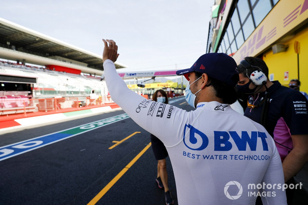 Sergio Perez, Racing Point saluta i fan