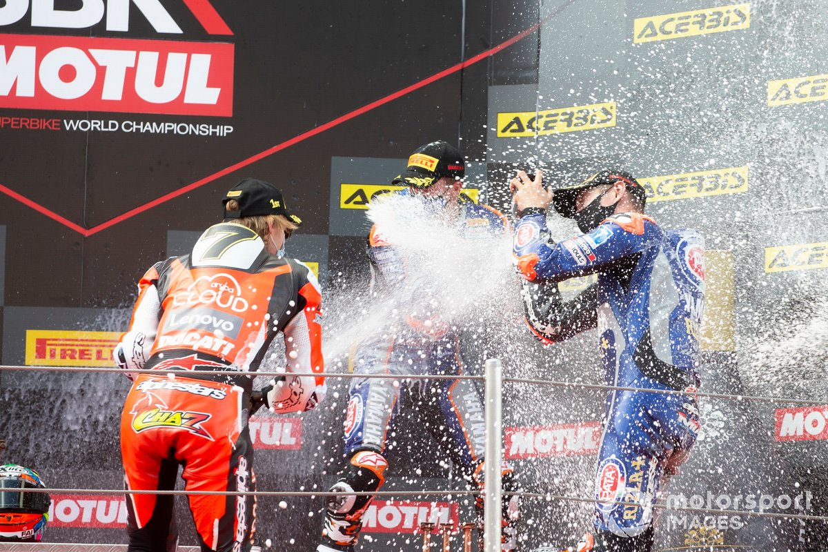 Chaz Davies, ARUBA.IT Racing Ducati, Garrett Gerloff, GRT Yamaha, Michael van Der Mark, Pata Yamaha