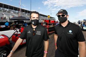 Dario Franchitti and Jimmy Johnson Chip Ganassi Racing Honda
