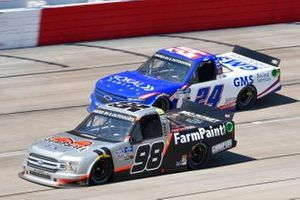 Grant Enfinger, ThorSport Racing, Ford F-150 Farm Paint/Curb Records, Greg Biffle, GMS Racing, Chevrolet Silverado GMS Services
