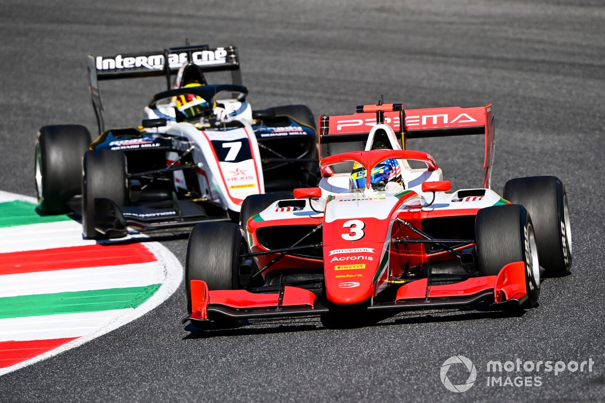 Logan Sargeant, Prema Racing e Theo Pourchaire, ART Grand Prix