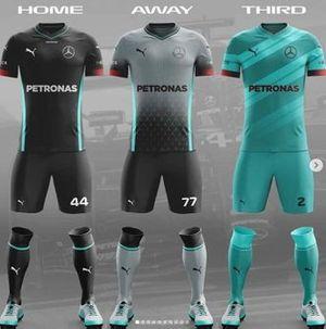 Uniforme de futebol da Mercedes