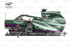 Aston Martin AMR21 new barge boards