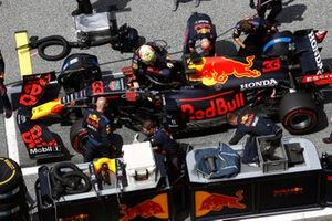 Max Verstappen, Red Bull Racing, op de grid