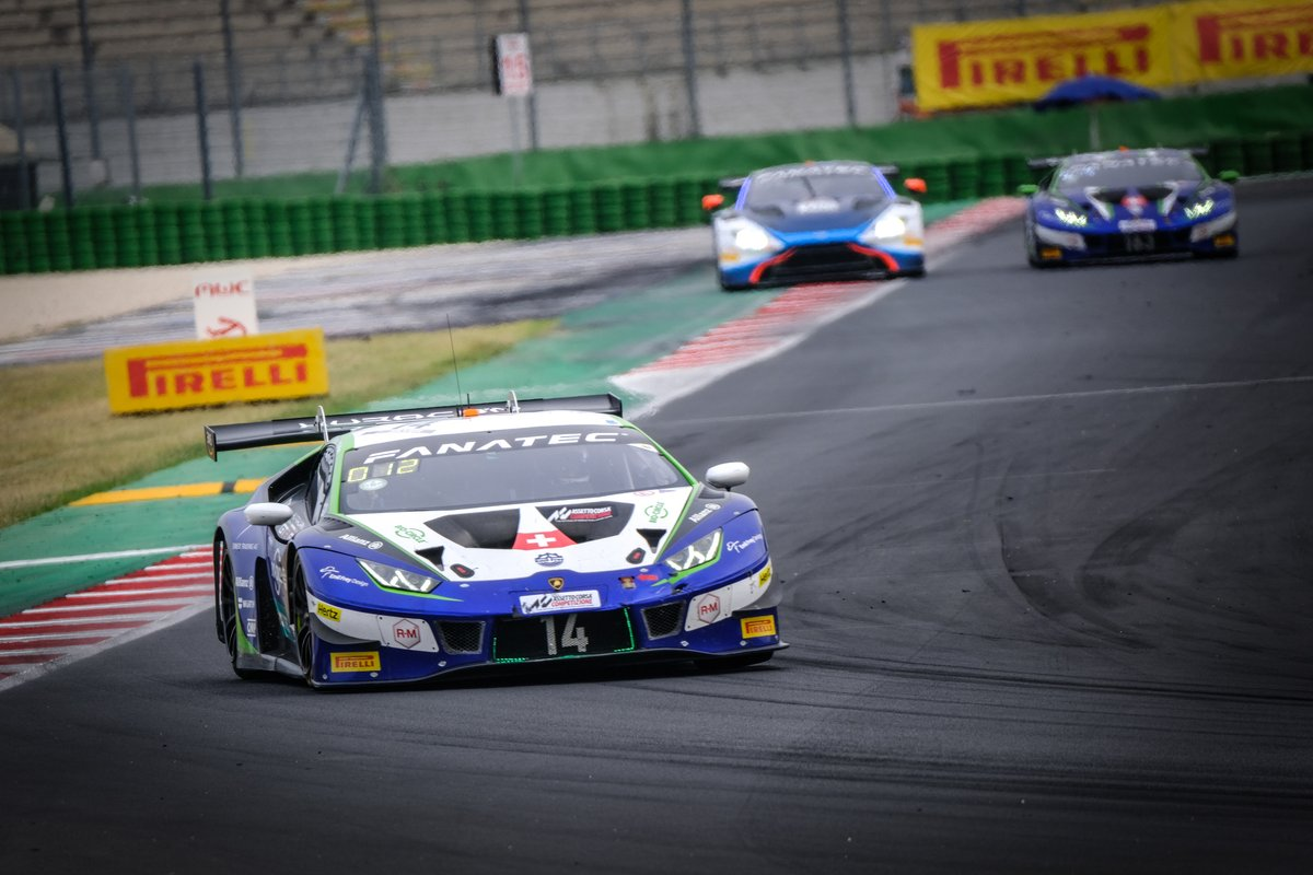 #14 Emil Frey Racing Lamborghini Huracan GT3 Evo: Ricardo Feller, Alex Fontana