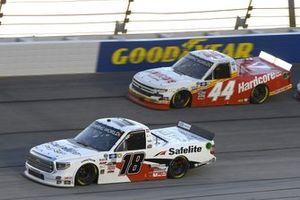 #18: Chandler Smith, Kyle Busch Motorsports, Toyota Tundra Safelite AutoGlass, #44: Bayley Currey, Niece Motorsports, Chevrolet Silverado Hardcore Fish & Game