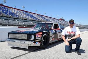 Dale Earnhardt Jr with Dale Earnhardt's 1971 Chevy Nova