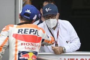 Marc Marquez, Repsol Honda Team, Carmelo Ezpeleta, PDG de Dorna Sports