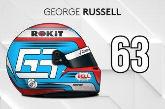 El casco 2019 de George Russell