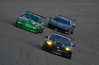 #12 MP1B Chevrolet Corvette driven by Dimitri Goliakov, #777 MP1B Porsche GT3 Cup driven by Guillermo Fernandez and Juan Ramirez of MGM Racing