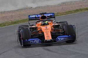 Lando Norris, McLaren MCL34, avec des capteurs aéro