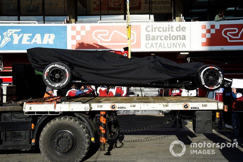 El auto de Kimi Raikkonen Alfa Romeo Racing C38