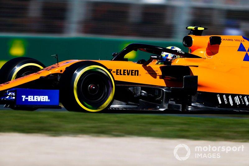McLaren, en Australia 2019, tuvo que hacer como Ferrari. Su pegatina 'A Better Tomorrow' que hace referencia a British American Tobacco fue eliminada del MCL34 y de la ropa del equipo. En su lugar apareció 7-Eleven, otro patrocinador