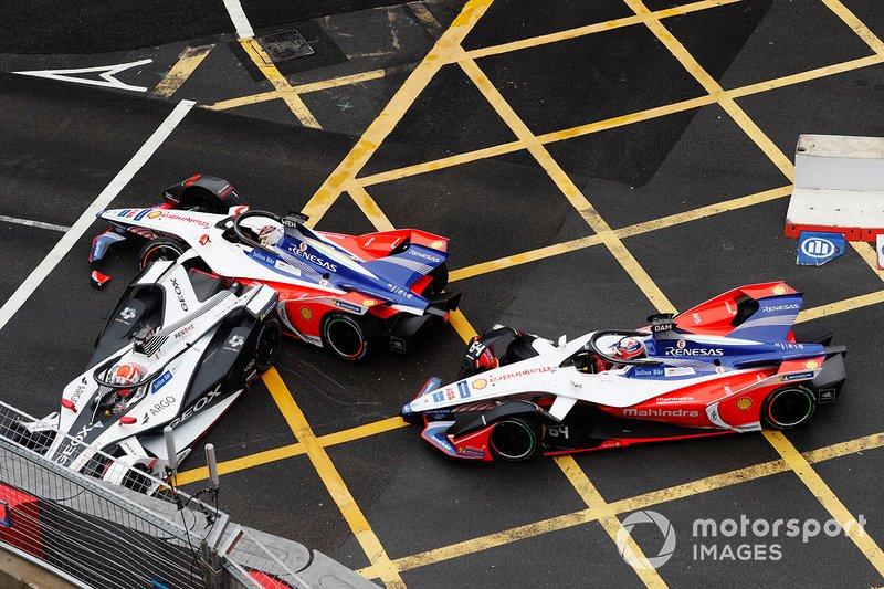 Фелипе Наср, Dragon Racing, Penske EV-3, Паскаль Верляйн и Жером Д'Амброзио, Mahindra Racing, M5 Electro, авария
