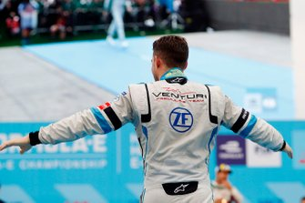 Edoardo Mortara, Venturi Formula E, 2nd position, approaches the podium