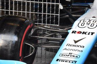 Williams FW42 detalle de la suspensión delantera