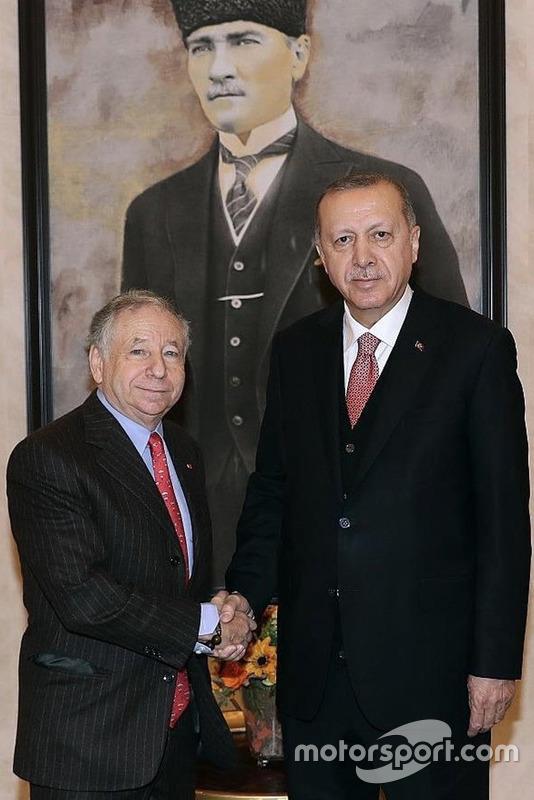 Jean Todt, FIA Başkanı, Recep Tayyip Erdoğan, Türkiye Cumhurbaşkanı