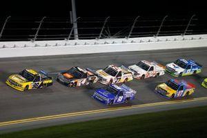 Grant Enfinger, ThorSport Racing, Ford F-150 Todd Gilliland, Kyle Busch Motorsports, Toyota Tundra JBL, Clay Greenfield, Clay Greenfield Motorsports, Chevrolet Silverado