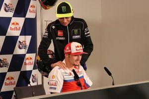 Valentino Rossi, Yamaha Factory Racing, Jack Miller, Pramac Racing, basın toplantısında