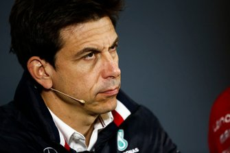 Toto Wolff, Executive Director (Business), Mercedes AMG, in the Friday Press Conference