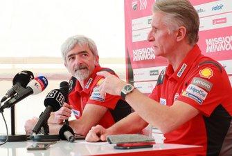 Джиджи Далл`Инья, руководитель команды Ducati Team, Паоло Чиабатти, спортивный директор Ducati Corse