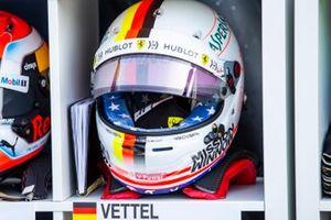 The helmet of Sebastian Vettel