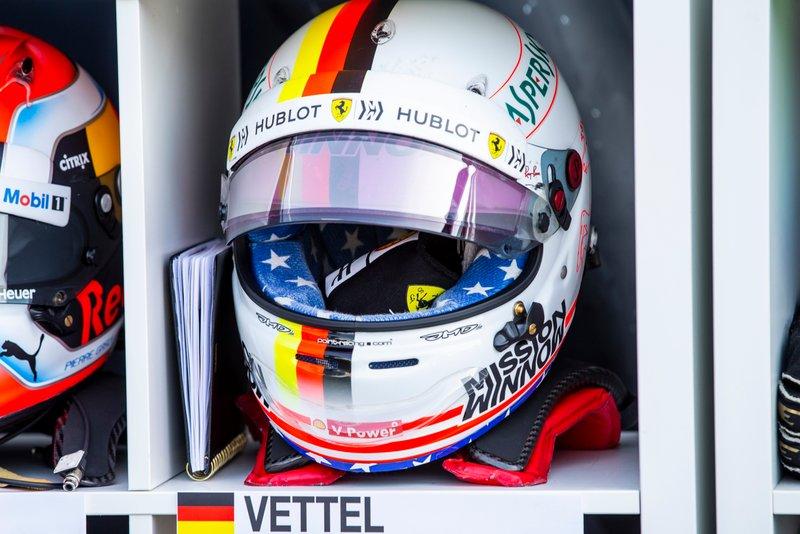 Le casque de Sebastian Vettel