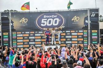 Pódio da corrida 500 da Stock Car no Velopark