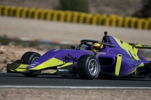 Track action in the W-Series Tatuus F3 T-318 car
