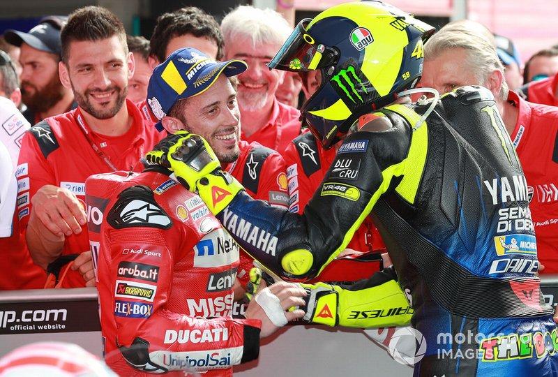Андреа Довіціозо, Ducati Team, Валентино Россі, Yamaha Factory Racing