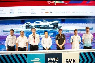 Alejandro Agag, CEO, Formula E, Sébastien Buemi, Nissan e.Damss, Antonio Felix da Costa, BMW I Andretti Motorsports, Oliver Turvey, NIO Formula E Team