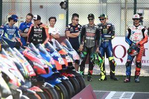 Франко Морбиделли, Petronas Yamaha SRT, и Валентино Росси, Yamaha Factory Racing