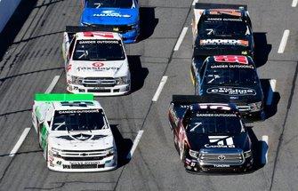 Kyle Busch, Kyle Busch Motorsports, Toyota Tundra Cessna and Ross Chastain, Niece Motorsports, Chevrolet Silverado TruNorth/Paul Jr. Designs