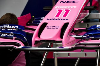 Racing Point RP19 front wing detail