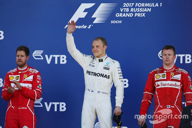 Primer podio con mayoría roja