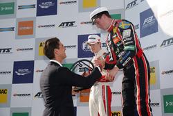 Podium: Race winner Joel Eriksson, Motopark Dallara F317 - Volkswagen