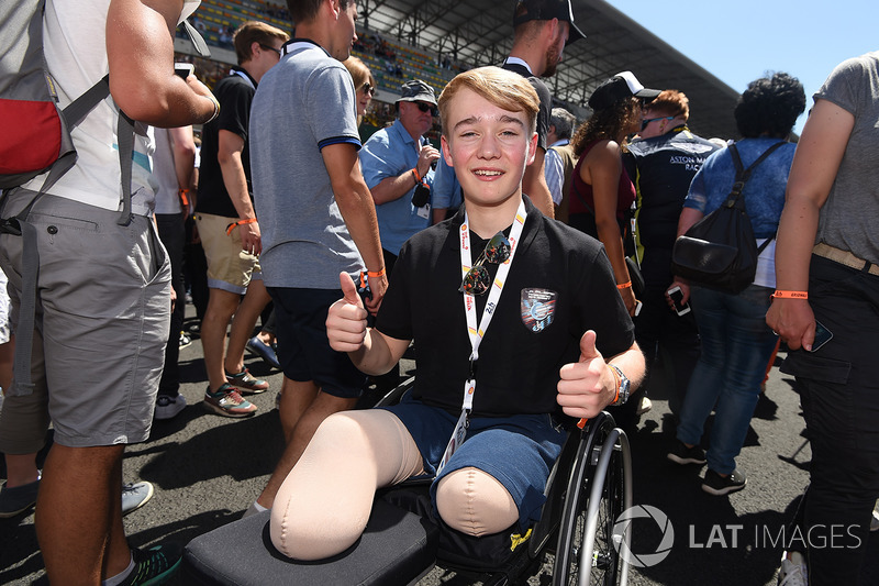 Billy Monger no se lo quiso perder