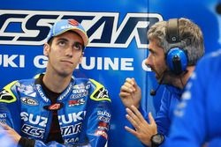 Alex Rins, Team Suzuki MotoGP, et Jose Manuel Cazeaux