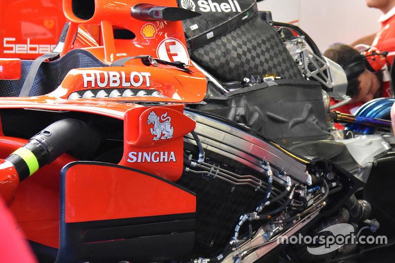 Ferrari SF70H engine detail