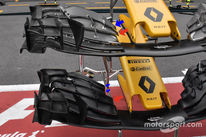 Renault Sport F1 Team RS17, front wings