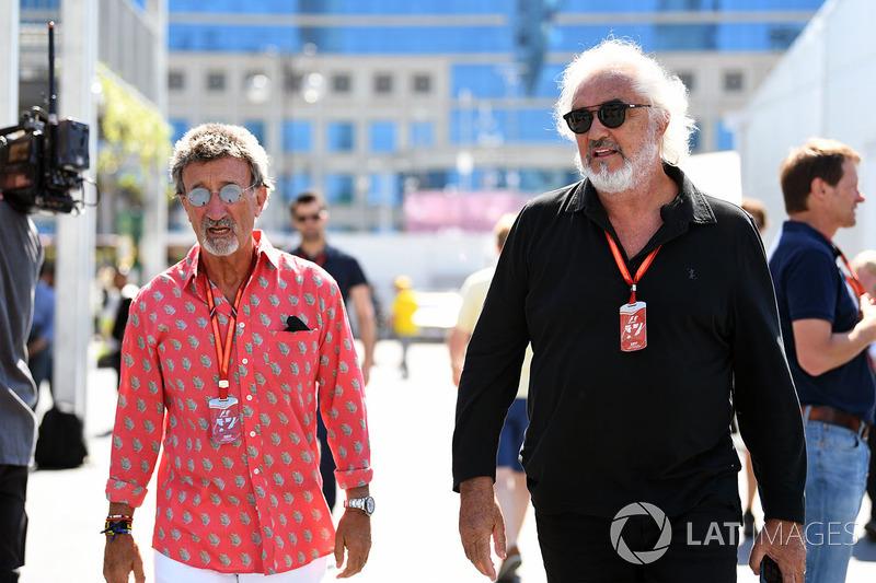 Eddie Jordan, Channel 4 F1 TV und Flavio Briatore