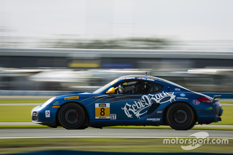 #8 Rebel Rock Racing Porsche Cayman: David Roberts, Dion von Moltke