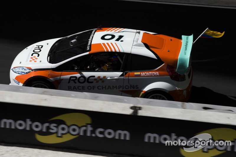 Juan Pablo Montoya, driving the RX Supercar Lite